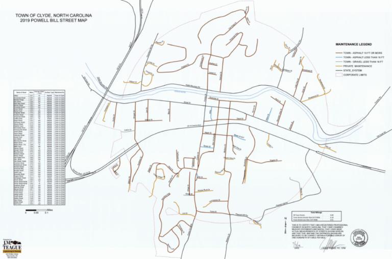 Clyde Powell Bill Map 2019
