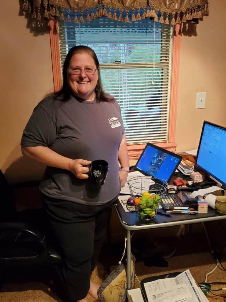 Denise Teague home office