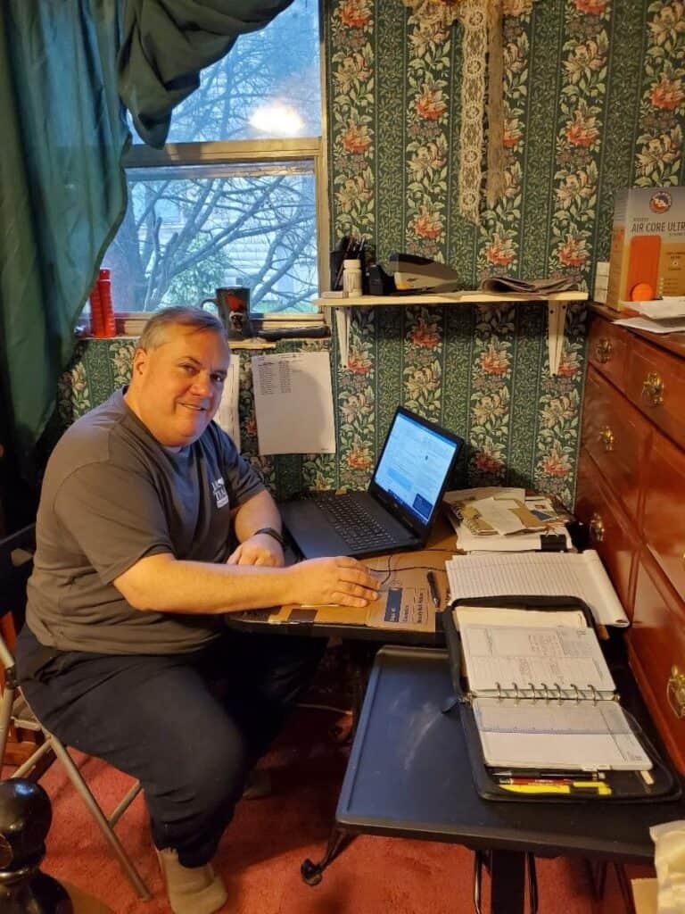 Mark Teague Home office