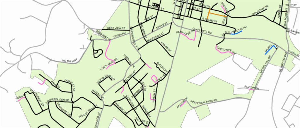 Powell Bill Map Example