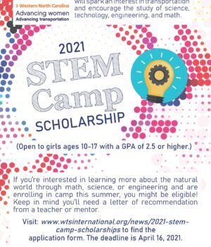 WTS STEM Camp Scholarship Flyer